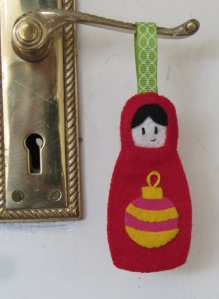 Felt matrioshka Christmas ornament