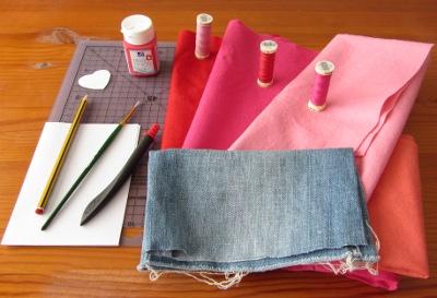 Bag of love - supplies