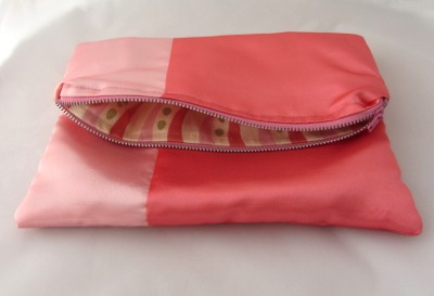 Fold over clutch tutorial - lining view