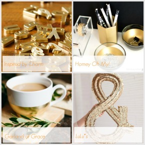 A touch of gold – DIY tutorials round-up