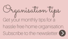 Get free organisation tips: subscribe to the newsletter